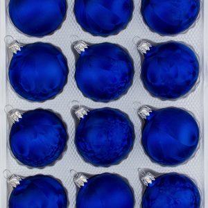 "12 tlg. Glas-Weihnachtskugeln Christbaumkugeln Christmas balls Set in ""Ice Royal blau blue "" Eislack"